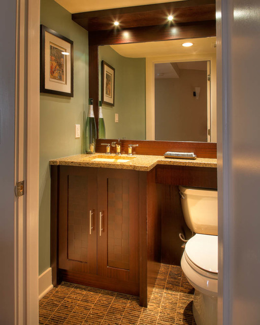 modern - contemporary half bath - contemporary - powder room