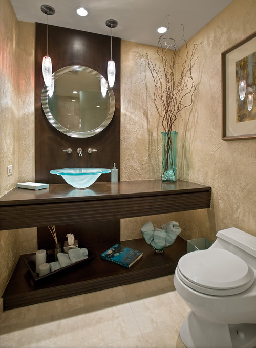 Modern/Contemporary Powder Room contemporary powder room