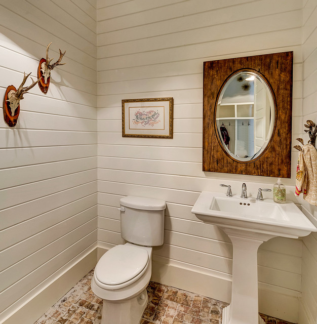 Modern Farmhouse Country Powder Room Dallas by Bannister