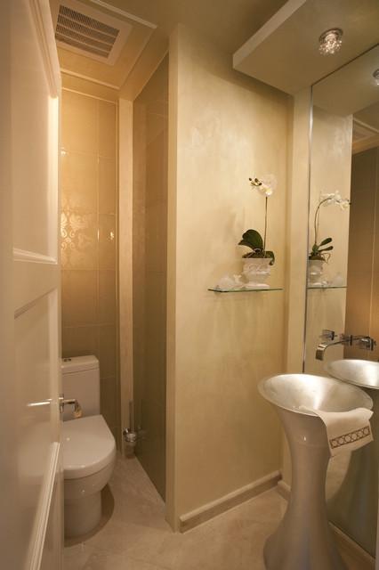 Modern Interior Design at the Jade Beach contemporary-powder-room