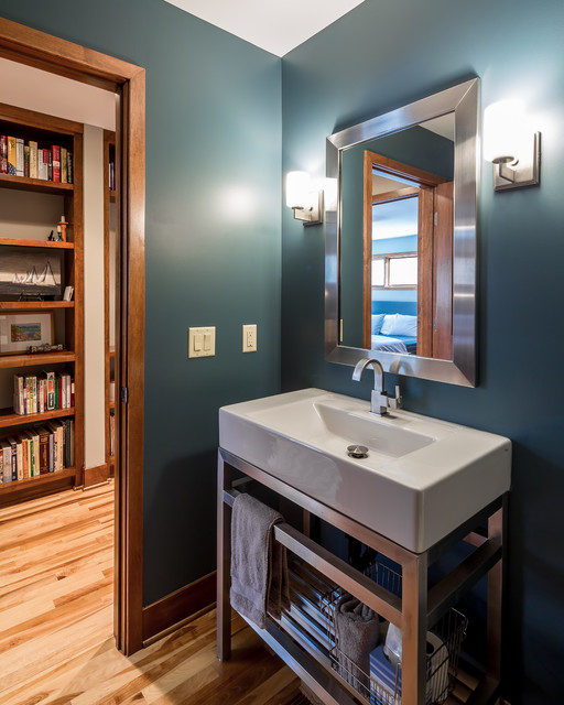 Modern Minneapolis Ranch Contemporary Powder Room