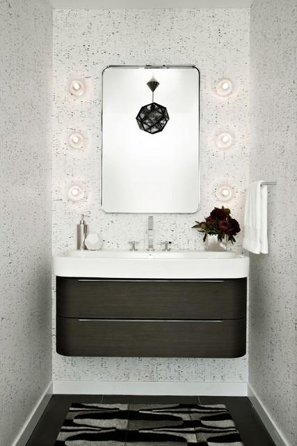 modern powder room. Black Bedroom Furniture Sets. Home Design Ideas
