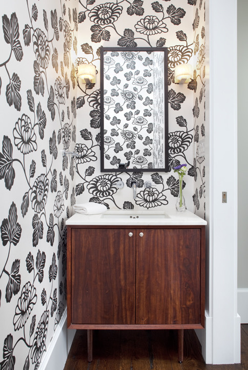modern powder room by Feldman Architecture, Inc.