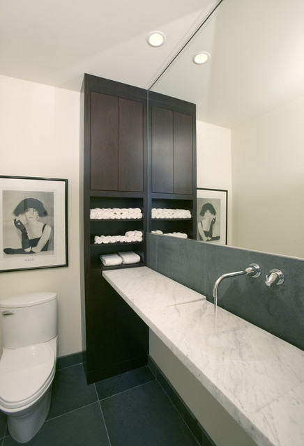 Modern Powder Room Modern Powder Room Minneapolis