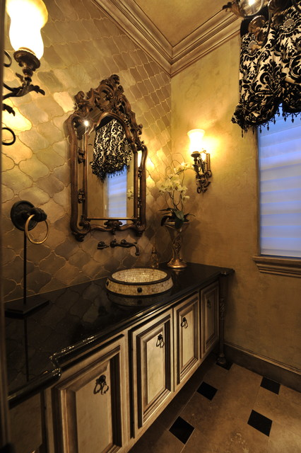 Powder rooms modern powder room houston by the for Bathroom interior design houston
