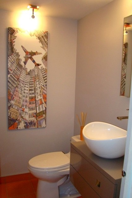 Montreal powder room 2 modern powder room montreal for Bathroom design montreal