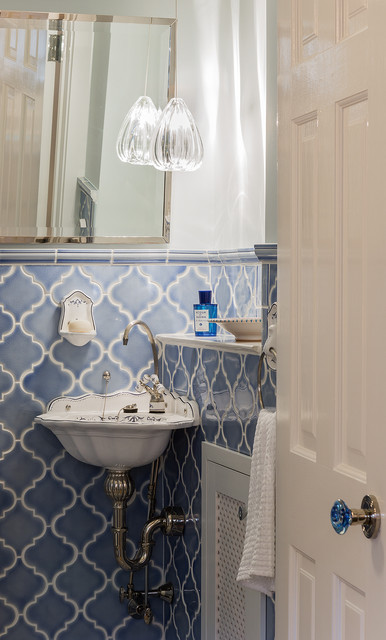 Moroccan Powder Room victorian-powder-room