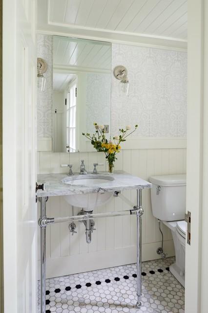 Mount tabor tudor traditional powder room other for Tudor bathroom design