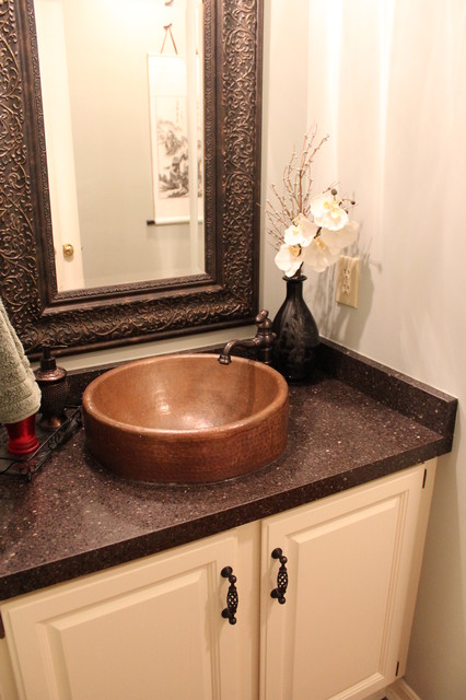 My Home Office - Work in Progress traditional-powder-room