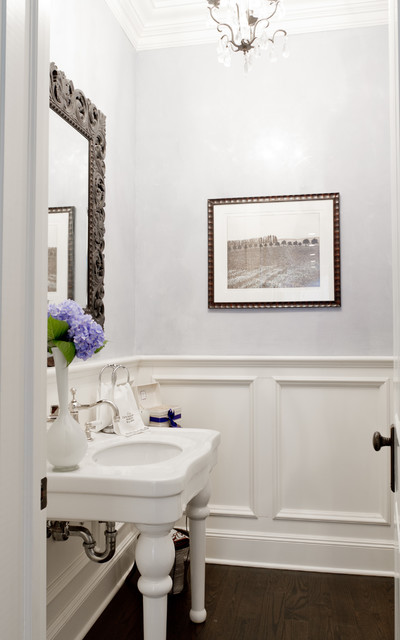 My Houzz Iris Dankner Traditional Powder Room New