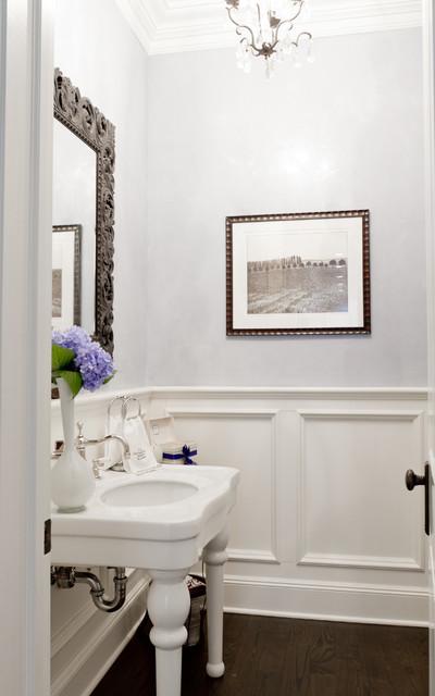 Réalisation d'un WC et toilettes tradition avec un plan vasque.