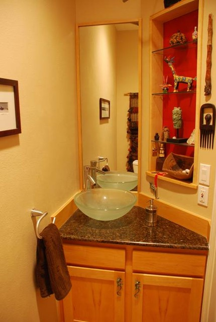 My Houzz Renovation Eclectic Powder Room Austin By Retired