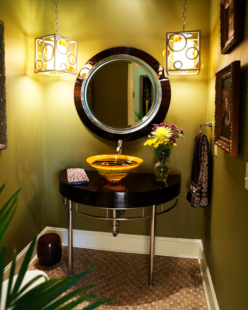 Nashville eclectic-powder-room