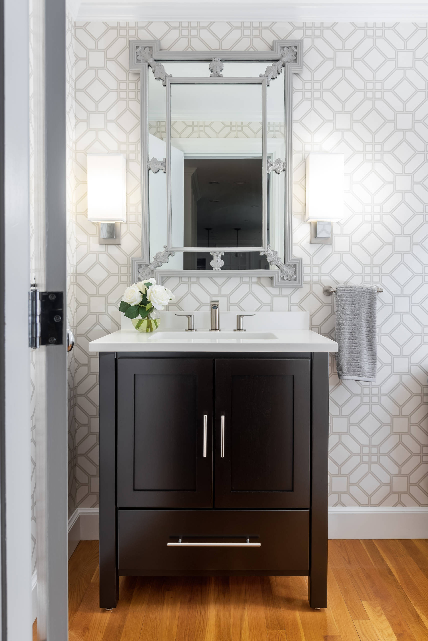 75 Beautiful Powder Room With Black Cabinets Pictures Ideas February 2021 Houzz