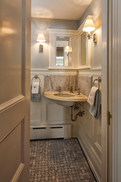 Neoclassical Home Traditional Powder Room New York