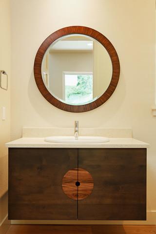 New 4,500 SF Spec House SW Portland Hills contemporary-powder-room