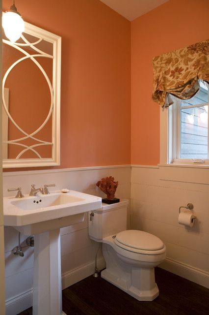 New England Cottage Contemporary Powder Room Other