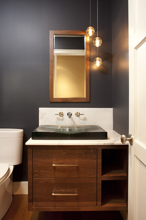 new project contemporary powder room