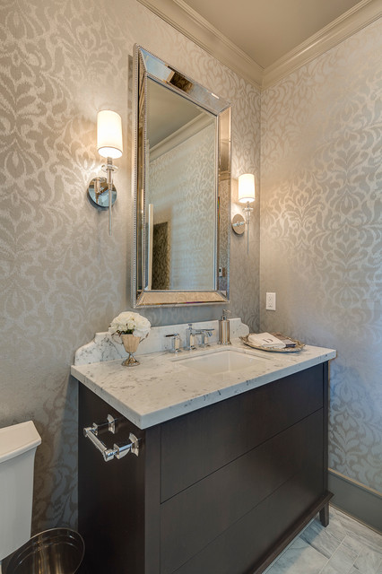 New West Classic Traditional Powder Room Vancouver