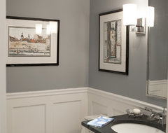 New York Area Interior traditional powder room
