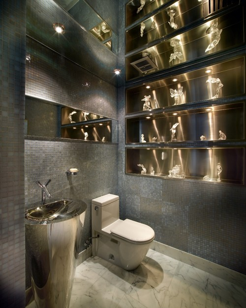 28 half bathroom designs some are cleverly designed Very small powder room ideas
