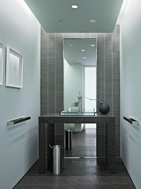 Nob Hill Condominium modern-powder-room