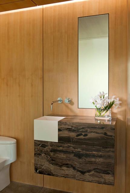 Northaven Contemporary Powder Room Dallas By R Brant Design