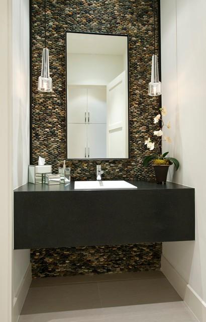 Contemporary Powder Room By Tatum Brown Custom Homes