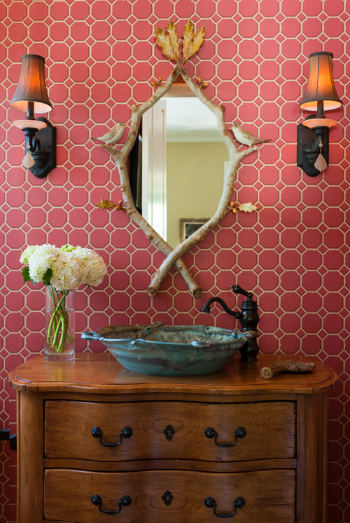 Traditional Powder Room by Memphis Interior Designers & Decorators Anna Baskin Lattimore Design