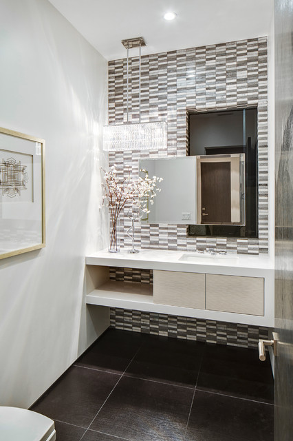 Oakwood Contemporary Powder Room Los Angeles By