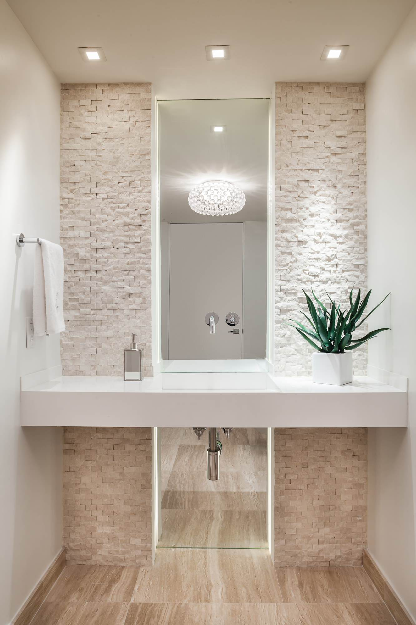 75 Beautiful Beige Tile Powder Room Pictures Ideas January 2021 Houzz