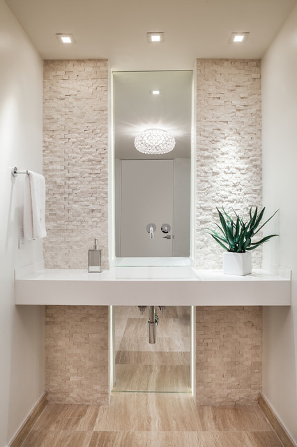 Ocean Drive Condo contemporary-powder-room
