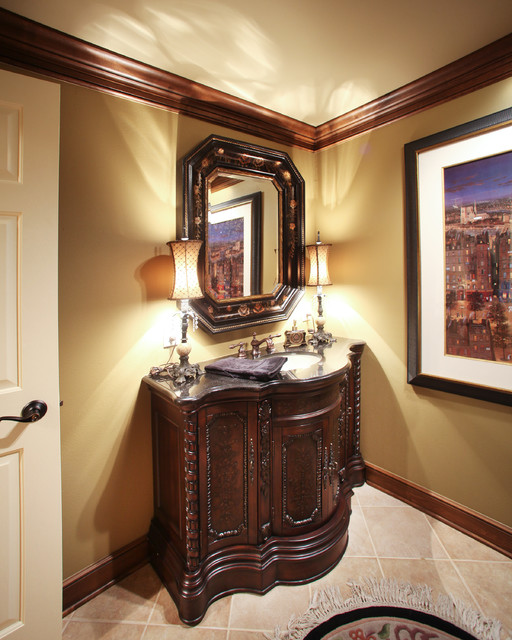 Oconomowoc Whole House Remodel traditional powder room