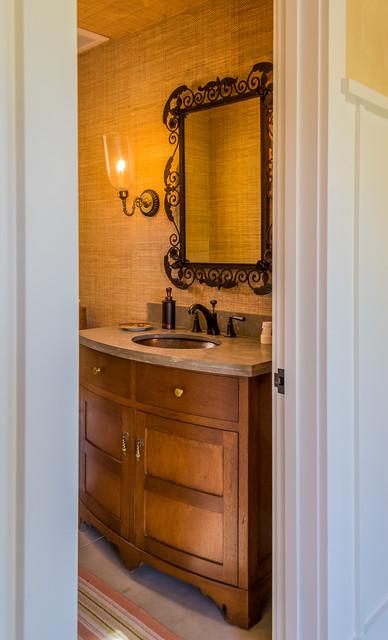 Ojai Residence rustic-powder-room