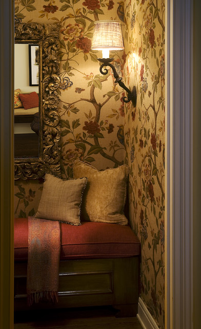Old World A New eclectic powder room