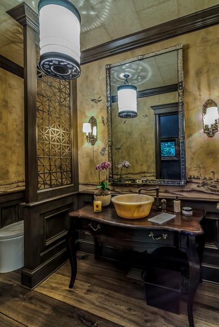Old World Estate Eclectic Powder Room Other Metro