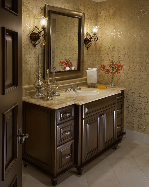 Traditional Powder Room Joy Studio Design Gallery Best