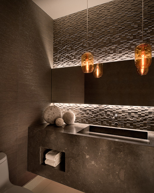 Ownby design contemporary cloakroom phoenix by for Powder room lighting