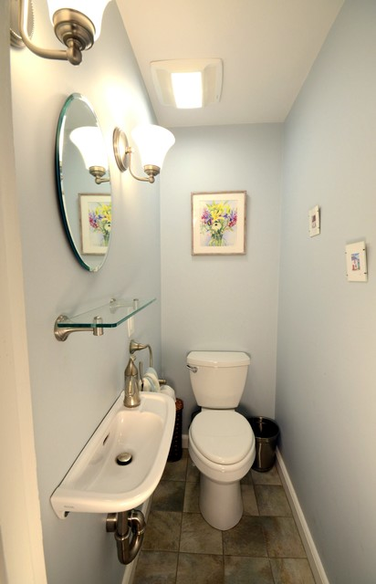 Pantry Closet Transformed Into Powder Room