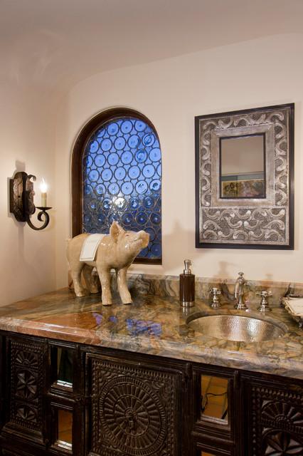 Paradise Valley Residence mediterranean-powder-room