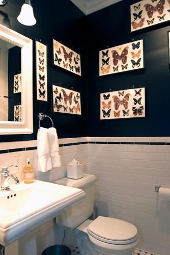 Park Slope Powder Room | Karen Chien Inc. traditional-powder-room