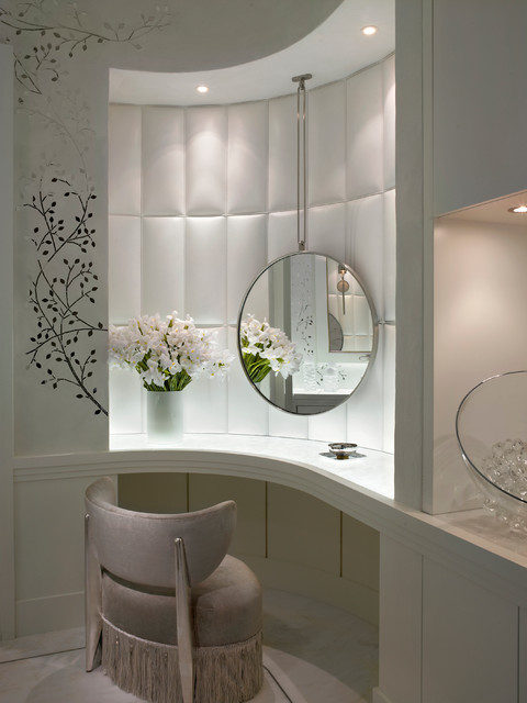 alene workman interior design, inc. Interior Designers & Decorators. Ocean  Penthouse Miami Beach contemporary-powder-room