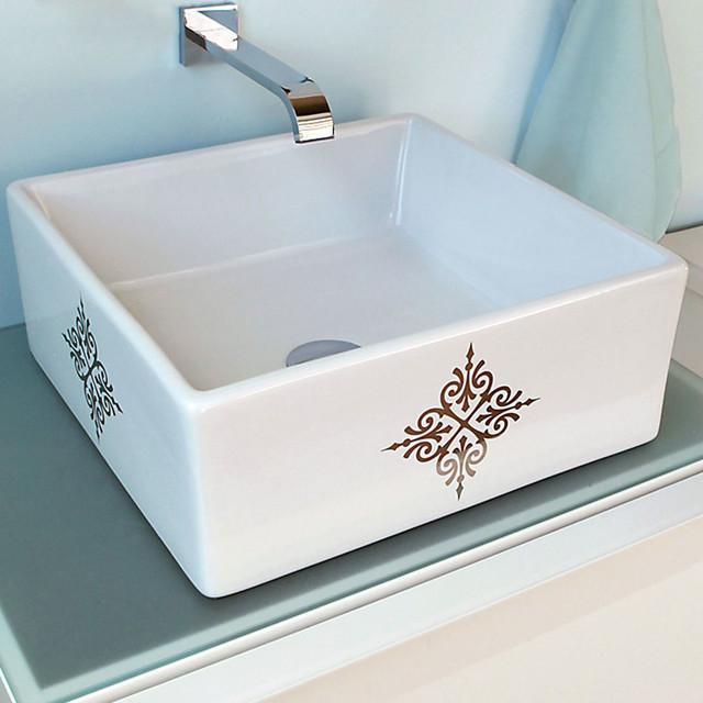 Platinum Fancy Emblem Vessel Sink