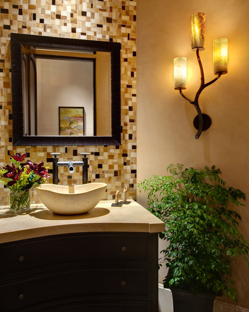 Powder Bath eclectic powder room
