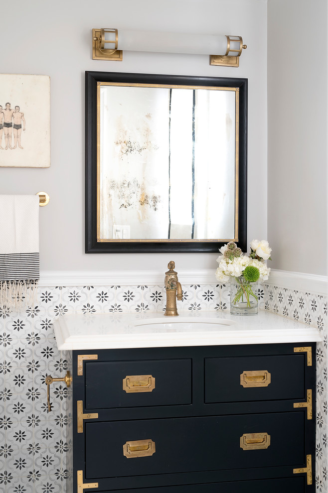 Powder Bath - Traditional - Powder Room - San Francisco ...