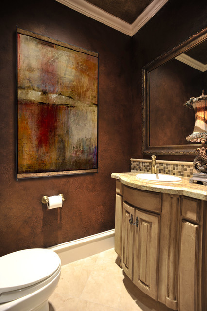 powder bath traditional powder room houston by re fuller designs. Black Bedroom Furniture Sets. Home Design Ideas