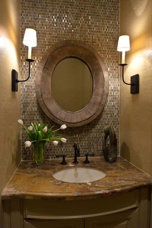 Baño Bajo Escalera Planos:Powder Room Wall Tile Ideas for Small Bathrooms