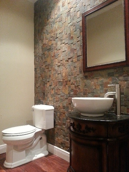 Powder Bath, Rock Wall - contemporary - powder room - other metro