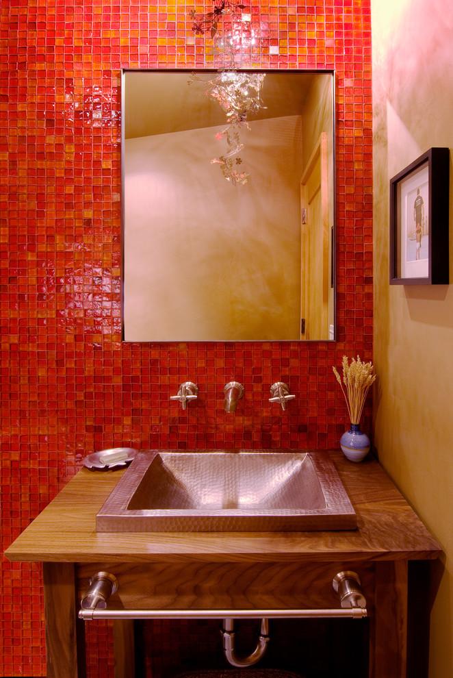 Powder Bathroom - Contemporary - Powder Room - Sacramento - by Ward-Young Architecture & Planning - Truckee, CA