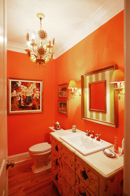 Powder Room eclectic powder room